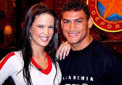 Una foto con el ex campeón de boxeo brasileño, Acelino Fre...