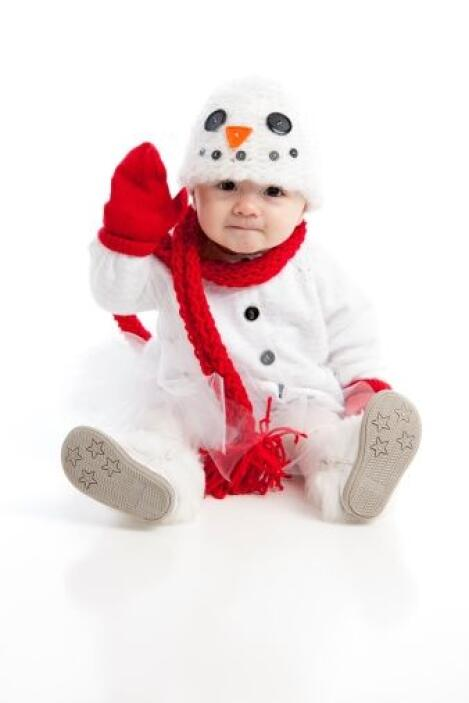 ¡La nieve es muy característica de estas fechas! ¿Te imaginas a tu bebé...