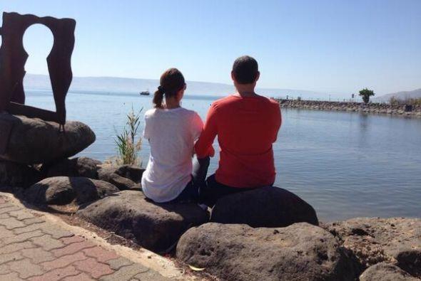 """""""Increible momento y vista en el mar de Galilea"""", compartió Alan. (Abril..."""