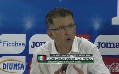 """Osorio: """"Ya se está viendo el juego que pretendemos"""""""