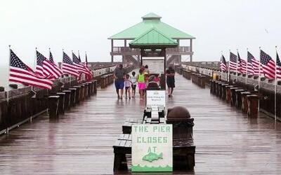 """Fuertes lluvias e inundaciones tras el paso de """"Bonnie"""""""