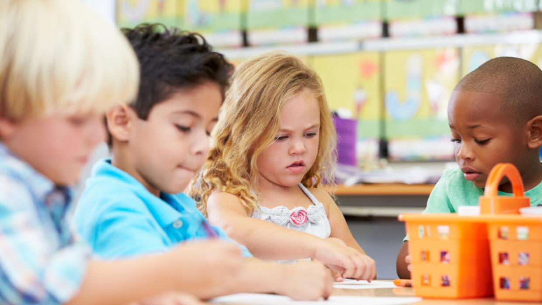 Niños en el daycare