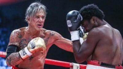 Rourke a los 62 años volvió al ring y ganó (Foto: Facebook).