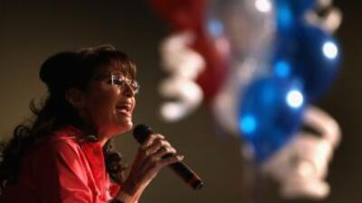 Sarah Palin, la lider del movimiento ultraconservador Tea Party.