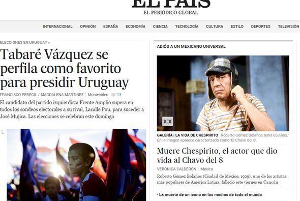 Así mostró el lamentable suceso el diario El País.