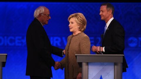 "Bernies Sanders, Hillary Clinton, Martin O""Malley"