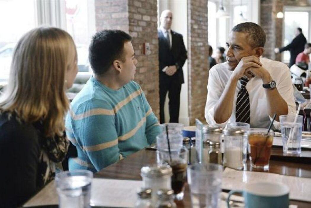 Obama ha querido agradecer personalmente la implicación de los jóvenes e...