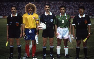 Carlos Valderrama y Hugo Sánchez los capitanes de Colombia y México, res...