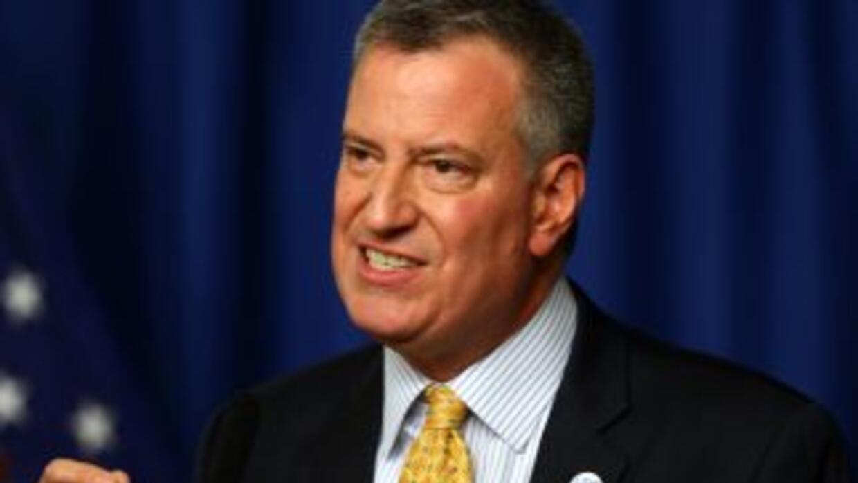 El alcalde de Nueva York, Bill de Blasio.