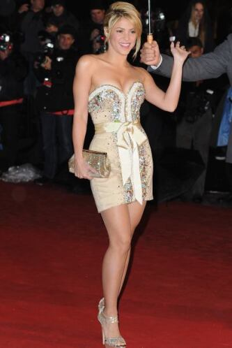 Sólo un lugar abajo de la comediante se encuentra la hermosa Shakira en...