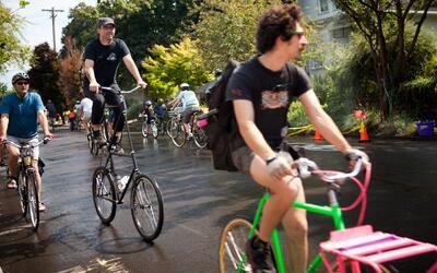 Portland, Oregon, es la ciudad de EEUU con más uso de bicicletas...