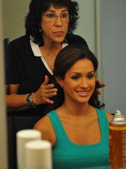 Hace unos días, Melissa grabó una serie de comerciales con Carlos Calder...