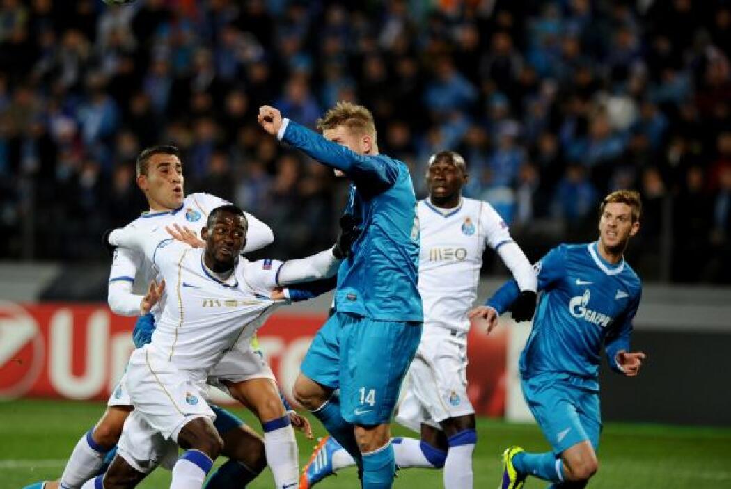 Finalmente, en Rusia el Zenit empató con el Porto 1-1. Hulk fue héroe y...