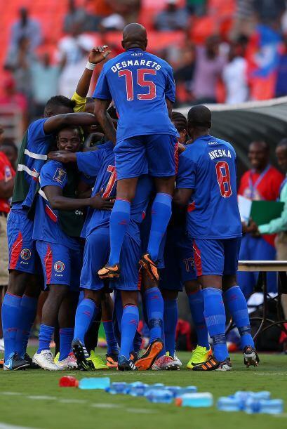 Los haitianos no cabían de felicidad tras la anotación de...
