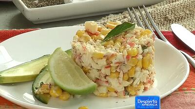Ensalada de surimi con elote rostizado del Chef Oropeza