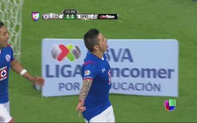 Cruz Azul vs Queréretaro: Rogelio Chávez adelanta de penalti a Cruz Azul