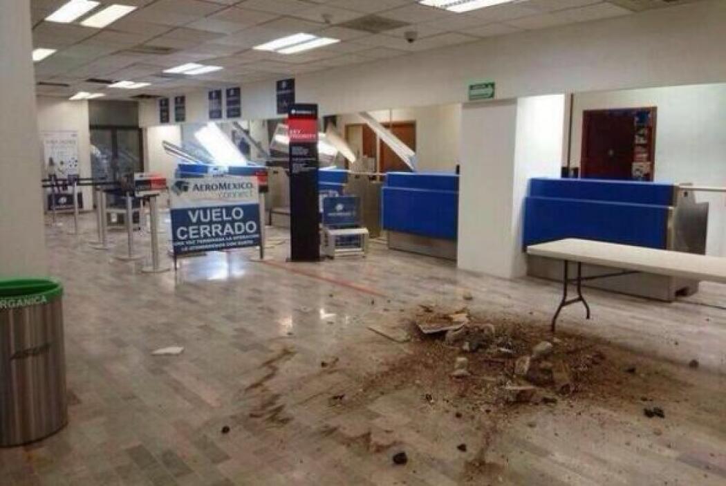Se registran algunos daños en el aeropuerto de Tapachula tras el sismo....