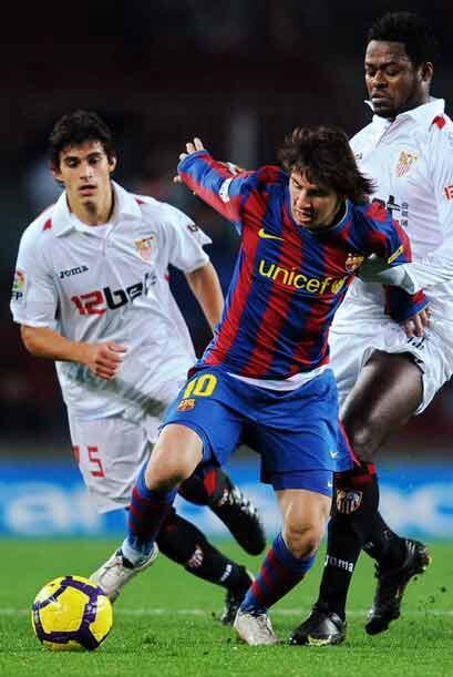 El Barcelona recibió al Sevilla en otro partido.
