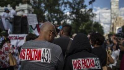 Una marcha en Ciudad de México realizada a 10 meses de la desaparición d...