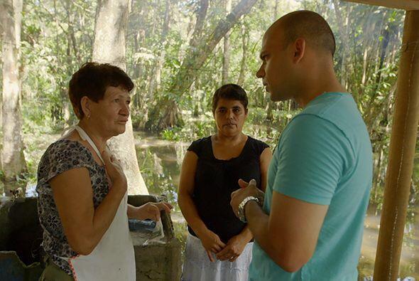 Ya en el sitio, el doctor Juan se encontró con Fidela Molina L&oa...