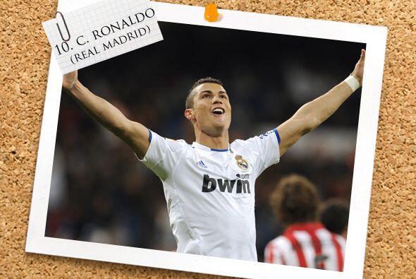Cristiano Ronaldo no se quedó atrás y también convirtió tres dianas ante...