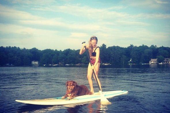 Amanda consiente mucho a su mascota y para todo están juntos, incluso en...