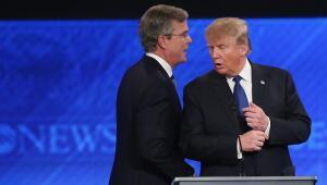 Jeb Bush y Donald Trump
