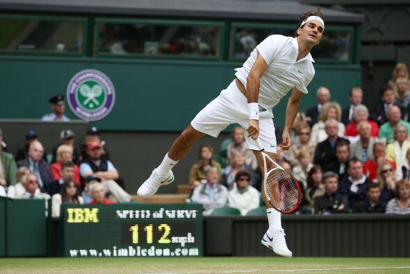 El suizo Roger Federer, tercer cabeza de serie del torneo, clasific&oacu...