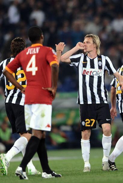 La 'Juve' se llevó el triunfo gracias a los goles de Milos Krasic...
