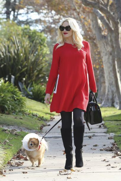 ¡Quién ni estando embarazada deja el 'glamour' es Gwen Stef...