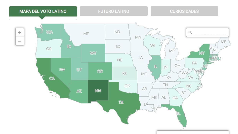 Mapa electoral hispano