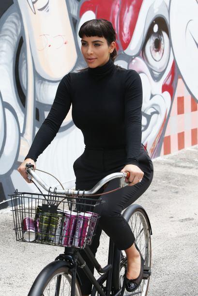 Sabemos que Kim no es buena para los deportes ni la coordinación....