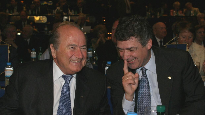 Blatter y Angel María Villar.