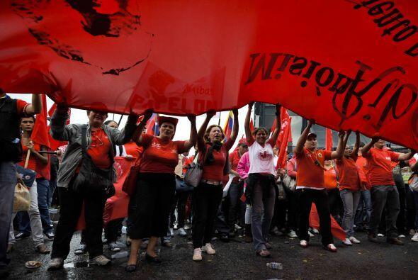 Los partidarios del presidente y Chávez  celebran cada año el aniversari...