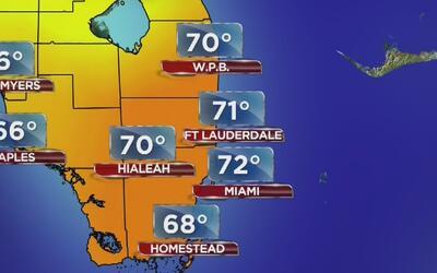 Cielo despejado y temperaturas frescas en Miami