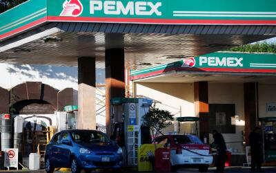 Estación abastecedora de gasolina de Pemex