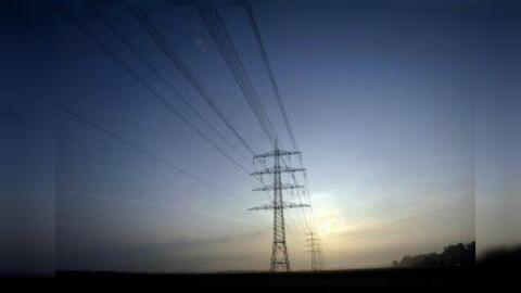 Torres de energía eléctrica.