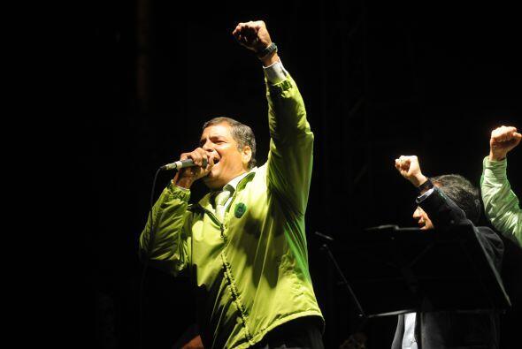 Rafael Correa, presidente de Ecuador, tuvo éxito en su refer&eacu...