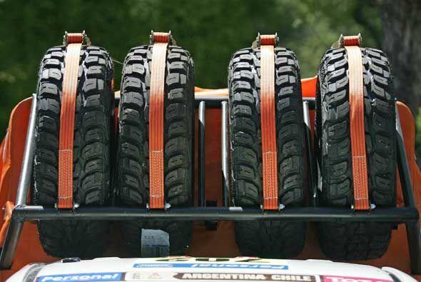 Los neumáticos de repuesto serán fundamentales para las 13...