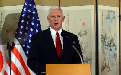 """Vicepresidente Pence le advierte a Core del Norte que """"la paciencia estr..."""