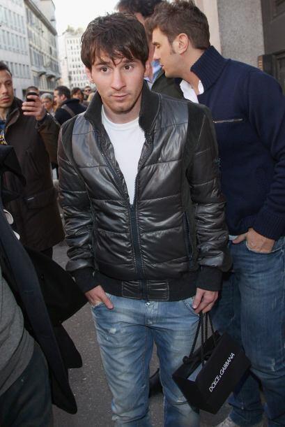 Pero Messi era custodiado por un numeroso cuerpo de seguridad.