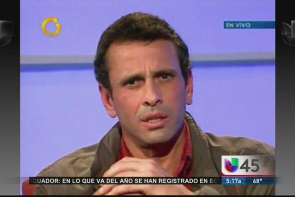 El candidato opositor Henrique Capriles anunció este jueves que buscará...