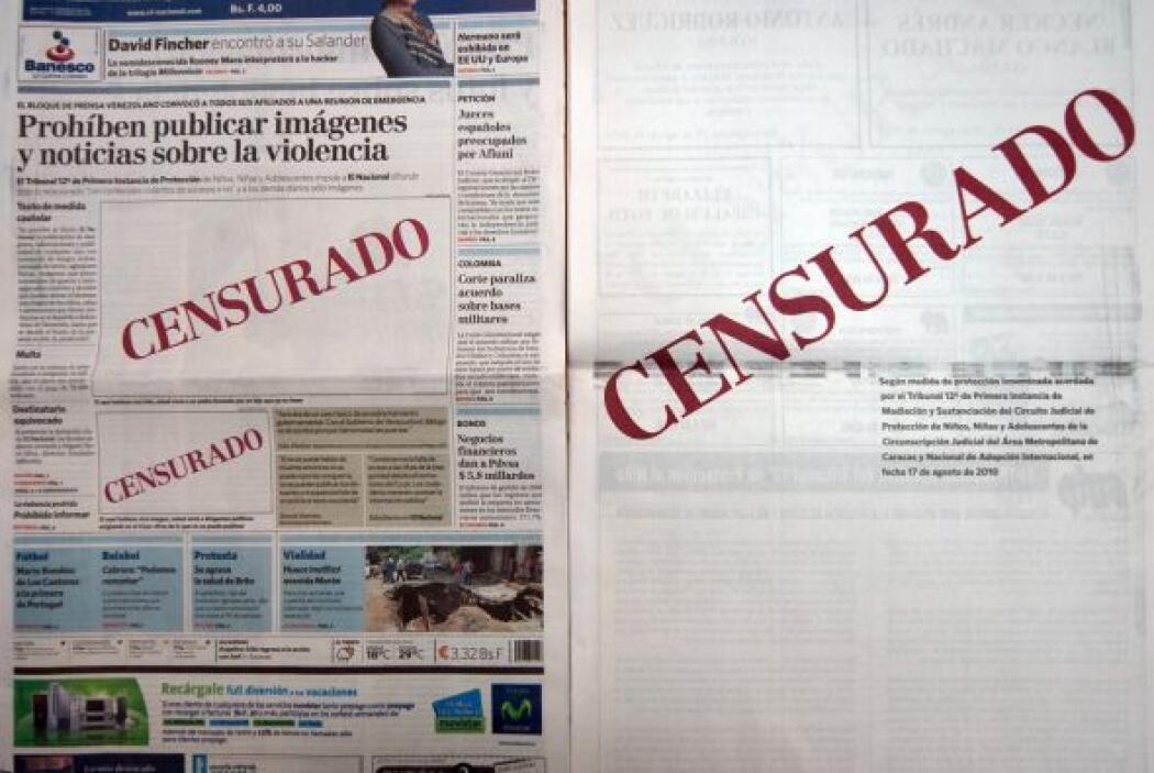 Los medios venezolanos están en desacuerdo con la norma que les prohibe...