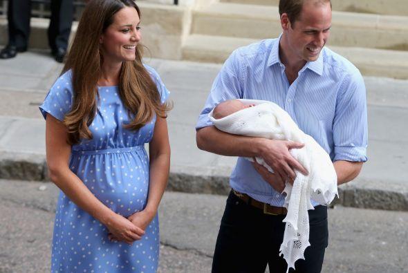 William y Kate dejaron ver su emoción como padres.