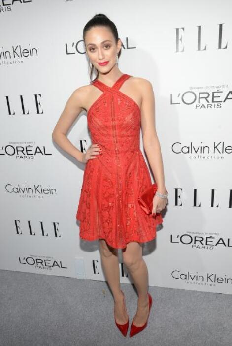 Emmy Rossum, sin lugar a dudas fue una de las más guapas de la gala con...