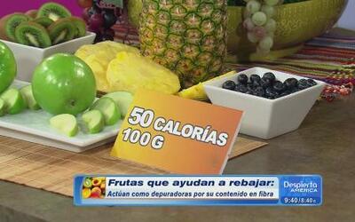 Conoce las frutas que adelgazan, según Claudia Molina