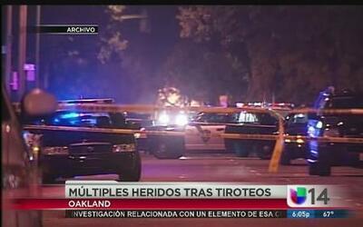 Tiroteos dejan múltiples heridos en Oakland