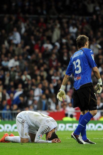 Pero no era su día en cuanto a goles marcados y Guaita estaba int...
