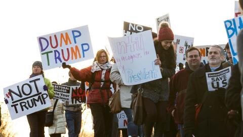 Washington DC ya está siendo escenario de protestas anti-Trump an...
