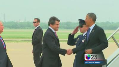 Barack Obama llega a Dallas